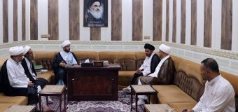 Religious and Scientific Figures Visit Office of Grand Ayatollah Shirazi in Basra
