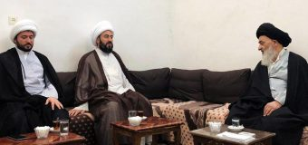 Director of Sheikh Mufid Seminary Meets Grand Ayatollah Shirazi