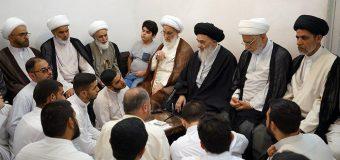 Clerics and Seminary Teachers from Holy Najaf Meet Grand Ayatollah Shirazi