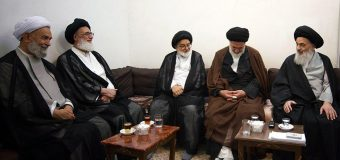 Delegations of Great Ayatollah Shahroodi Meet Grand Ayatollah Shirazi