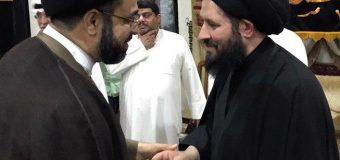 Sayed Ahmed Shirazi Takes Part in Memorials at Imam Baqir Religious Center
