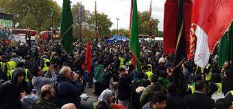 Representatives of Grand Ayatollah Shirazi Takes Part in Arbaeen Walk in London