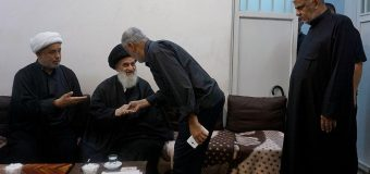 Office of Grand Ayatollah Shirazi Hosts Shia Caravans from Iraq
