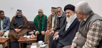 Ashab Kisa Caravan from Iraq Visits Grand Ayatollah Shirazi