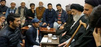 Shia Muslims from Kashmir Meet Grand Ayatollah Shirazi