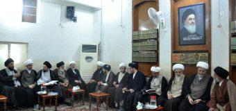 Clerics and Seminary Figures Visit Office of Grand Ayatollah Shirazi