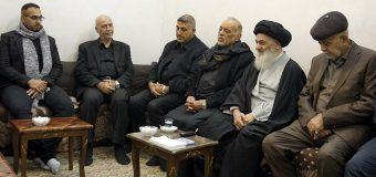 Riyadh Ale Nima Meets Grand Ayatollah Shirazi