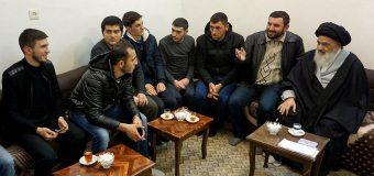 Shias from Azerbaijan Meet Grand Ayatollah Shirazi in Holy Qom Iran