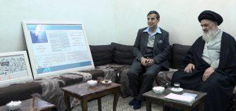 Human Rights Activist Meets Grand Jurist Ayatollah Shirazi