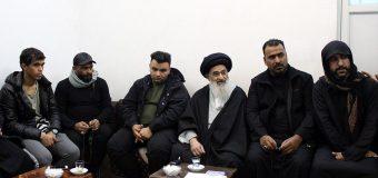 Members of Moslem bin Aqeel Community from Hillah Meet Grand Ayatollah Shirazi