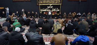 Iraqi Shias Mark Martyrdom of Lady Fatima Peace Be Upon Her at House of Grand Ayatollah Shirazi
