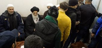 Iraqi Pilgrimage Caravans Visit House of Grand Ayatollah Shirazi