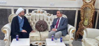Representative of Grand Ayatollah Shirazi Meets Dean of Islamic University in Holy Najaf