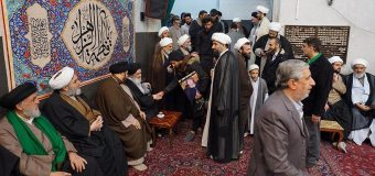 Members of Om Al-Banin Caravan Meet Grand Ayatollah Shirazi
