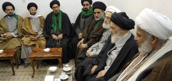 Iraqi Clerics and Seminarians Meet Grand Ayatollah Shirazi