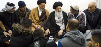 Members of Al-Kisa Mawkib from Iraq Meet Grand Ayatollah Shirazi in Holy Qom