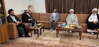 Sayed Mahdi Shirazi and Representative of Grand Ayatollah Shirazi Visit Marjaeyat TV