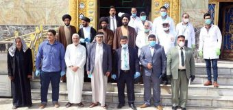 Office of Grand Ayatollah Shirazi Joins Project to Disinfect Public Areas in Wasit City