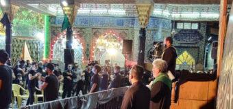 Public Relations Manager of Grand Ayatollah Shirazi Visits Commemorations of Imam Husayn (PBUH)