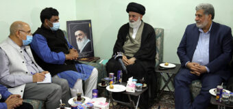 The Public Relations Manager of Grand Ayatollah Shirazi Hosts the Indian Ambassador in Iraq