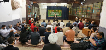 Managers of Religious Centers from Isfahan Visit House of Grand Ayatollah Shirazi