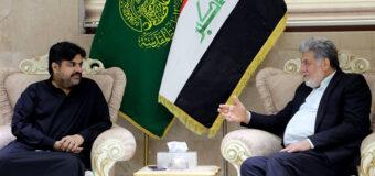Grand Ayatollah Shirazi Public Relations Manager Meets Pakistan's Minister of Housing