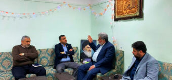 Grand Ayatollah Shirazi Public Relations Manager Welcomes the Karbala Municipality Director
