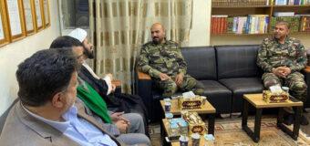 Head of Imam Hussein TV Hosts Iraqi General in Holy Karbala