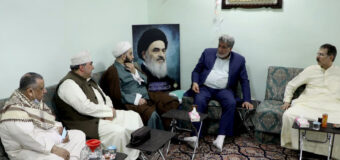 Believers from Kuwait Meet Public Relations Manager of Grand Ayatollah Shirazi in Holy Karbala