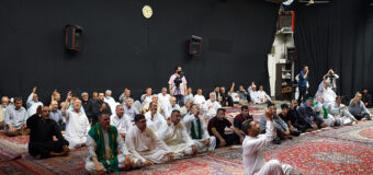 Believers from Holy Karbala Iraq Visit Grand Shia Jurist Ayatollah Shirazi in Holy Qom Iran